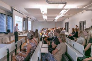 Prof. Dr. med. Jobst Nitsch giving a presentation at UMCH in Hamburg