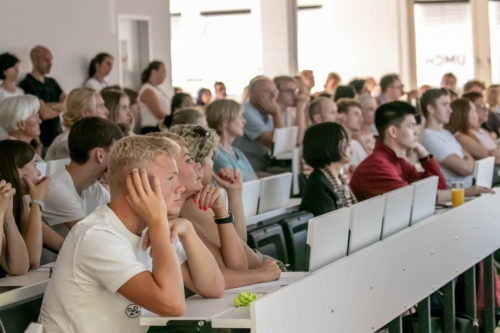 Audience during a presentation at UMCH's Open Campus Day
