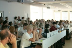 People attending UMCH's Open Campus Day