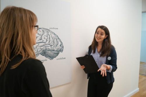 Student advisor talks to potential student