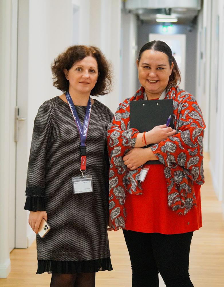 Prof. Simona Muresan with UMCH employee