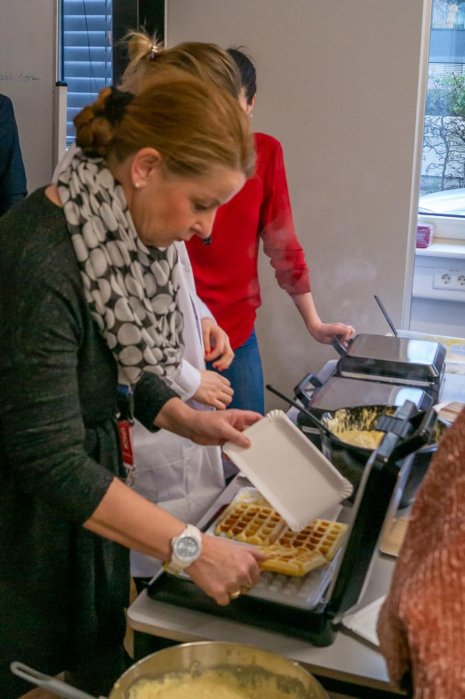 UMCH staff making waffles