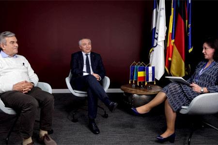 Interview zum Thema Akkreditierung am UMCH mit Simona Muresan, Leonard Azamfirei und Laurentiu Mogoanta