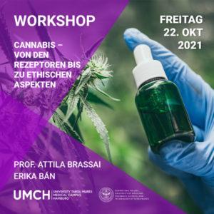 """Workshop """"Cannabis – Von den Rezeptoren bis zu ethischen Aspekten"""" mit Prof. Attila Brassai and Erika Ban"""